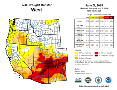 West Drought Monitor June 5, 2018.