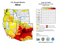 West Drought Monitor June 19, 2018.