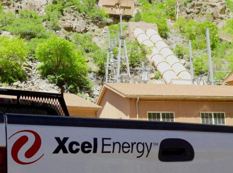 Xcel truck at Shoshone plant