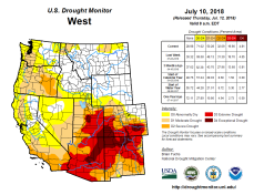 West Drought Monitor July 10, 2018.