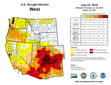 West Drought Monitor July 24, 2018.