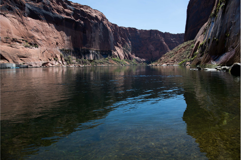 The Colorado River below Glen Canyon Dam. Photo credit: USBR
