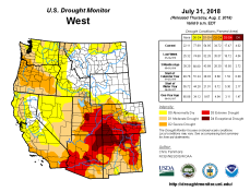 West Drought Monitor July 31. 2018