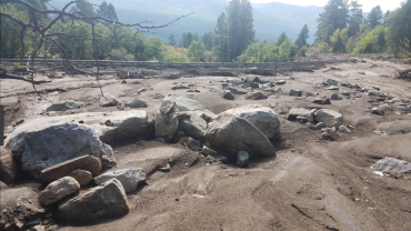 Debris flow from 416 Fire. Photo credit: Twitter #416Fire hash tag
