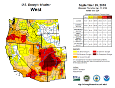 West Drought Monitor September 25, 2018.