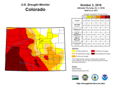 Colorado Drought Monitor October 2, 2018.