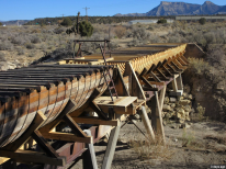 Restored section of the McElmo Flume. Photo credit: Jim Mimiaga/The Cortez Journal