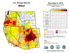West Drought Monitor November 6, 2018.