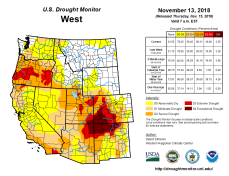 West Drought Monitor November 13, 2018.