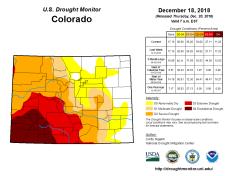 Colorado Drought Monitor December 18, 2018.