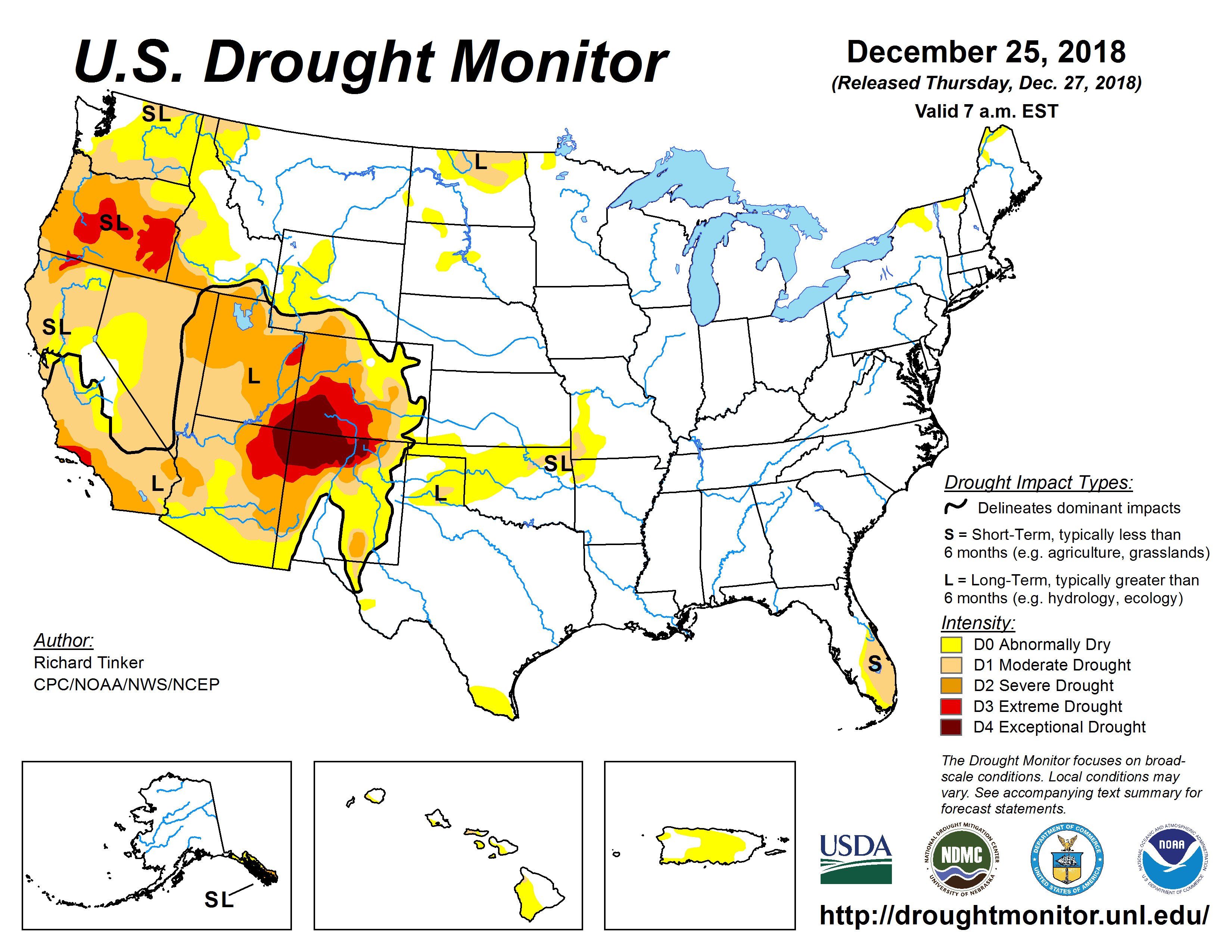Theres A Lot At Stake In The Weekly Us Drought Map National - Drought-map-us