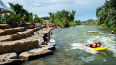 River Bottom Park Uncompahgre River. Photo credit: PhilipScheetzPhoto via the City of Montrose