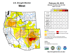 West Drought Monitor February 26, 2019.