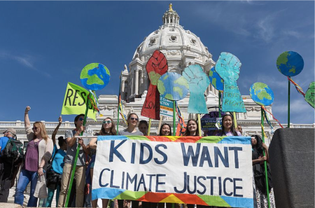 Youth activists rally for climate justice in front of the US Capitol in Washington,DC (photo from earlier in the year). Image: Lorie Shaull,CC BY-SA 2.0, via Wikimedia Commons