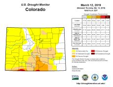 Colorado Drought Monitor March 12, 2019.