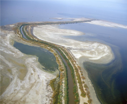 The New River, a contaminated waterway that flows north from Mexico, spills into the Salton Sea in southwestern California's Imperial Valley. Transborder pollution is among Jayne Harkins' priorities as U.S. IBWC Commissioner. (Image: U.S. Bureau of Reclamation)