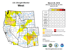 West Drought Monitor March 26, 2019.