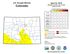 Colorado Drought Monitor April 23, 2019.