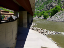 The Shoshone plant and boat ramp on the Colorado River. Photo credit: Brent Gardner-Smith/Aspen Journalism