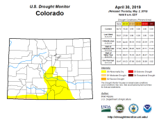 Colorado Drought Monitor April 30, 2019.