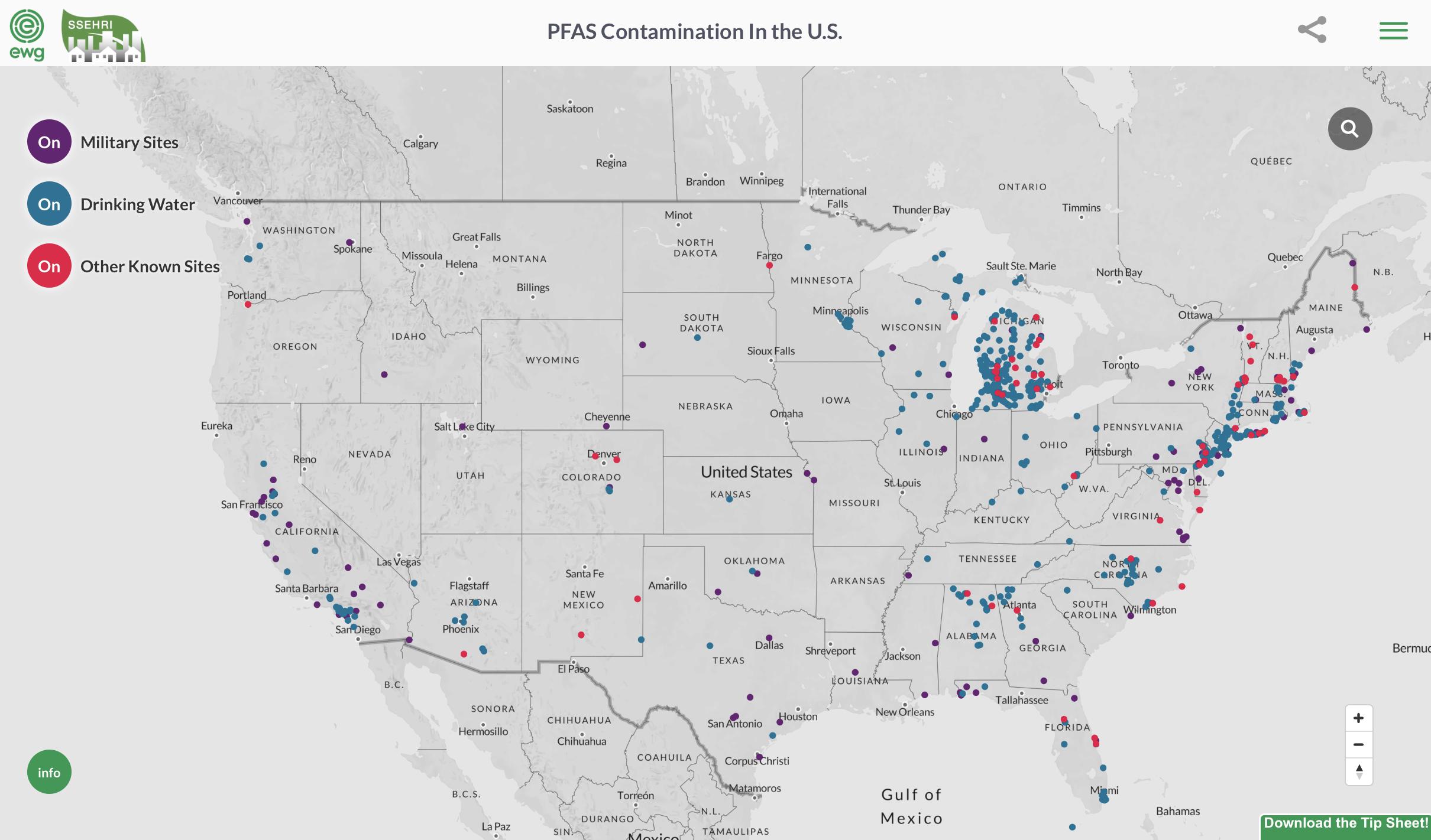 Mapping the #PFAS Contamination Crisis: New Data Show 610