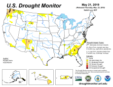 US Drought Monitor May 21, 2019.