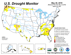US Drought Monitor May 28, 2019.