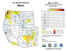 West Drought Monitor May 16, 2019.