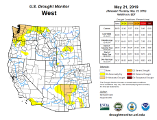 West Drought Monitor May 21, 2019.