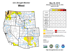 West Drought Monitor May 28, 2019.