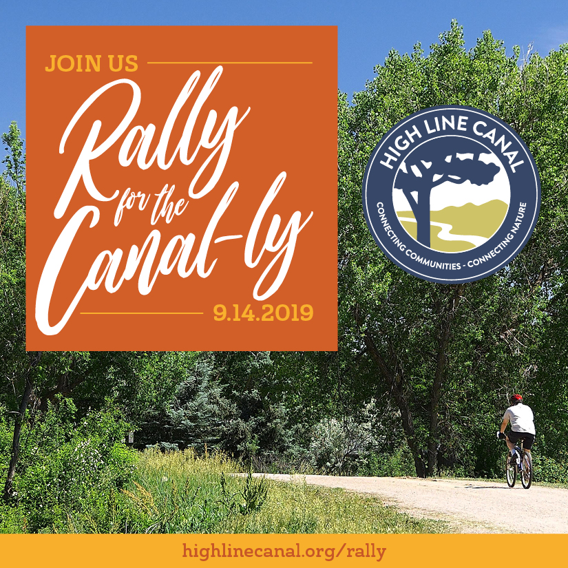 Support the High Line Canal and Rally for the Canal-ly, September 14, 2019 @COHighLineCanal