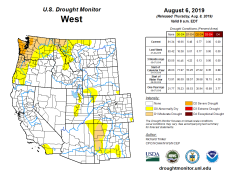 West Drought Monitor August 8, 2019.