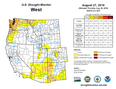 West Drought Monitor August 27, 2019.