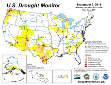 US Drought Monitor September 3, 2019.