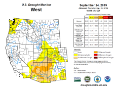 West Drought Monitor September 24, 2019.