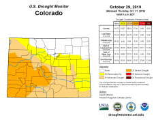 Colorado Drought Monitor October 29, 2019.