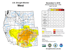 West Drought Monitor November 5, 2019.