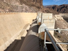 One of Lake Mead's spillways the last time water lapped at the top of the spillway was 1999.