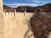 Face of Hoover Dam looking towards Arizona.
