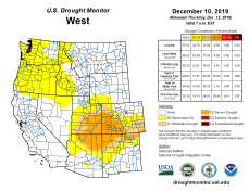 West Drought Monitor December 10, 2019.