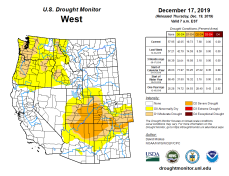 West Drought Monitor December 17, 2019.