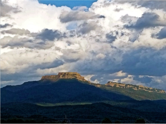 The 9,633-foot summit of Fishers Peak looms over Trinidad. Photo courtesy of Colorado Parks and Wildlife / Bill Vogrin