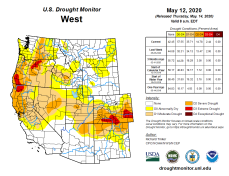 West Drought Monitor May 12, 2020.